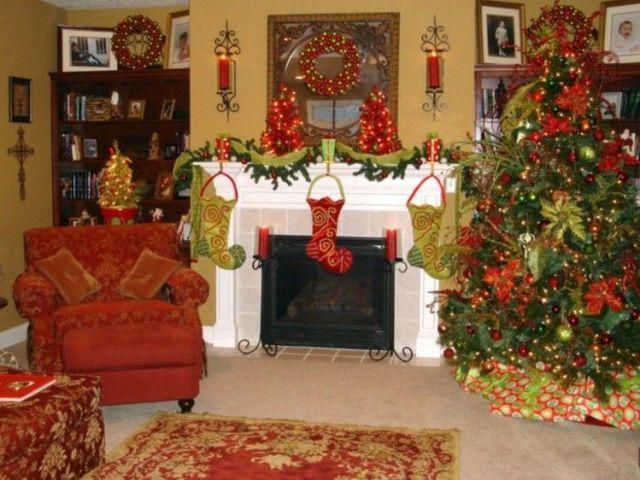 salones decorados motivos navideños