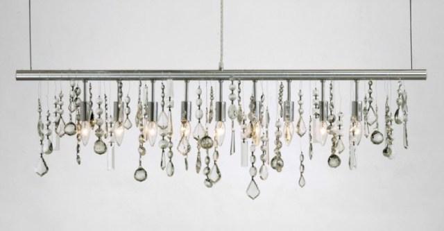 aydınlatma fikirleri stilleri kristaller metal duvarlar