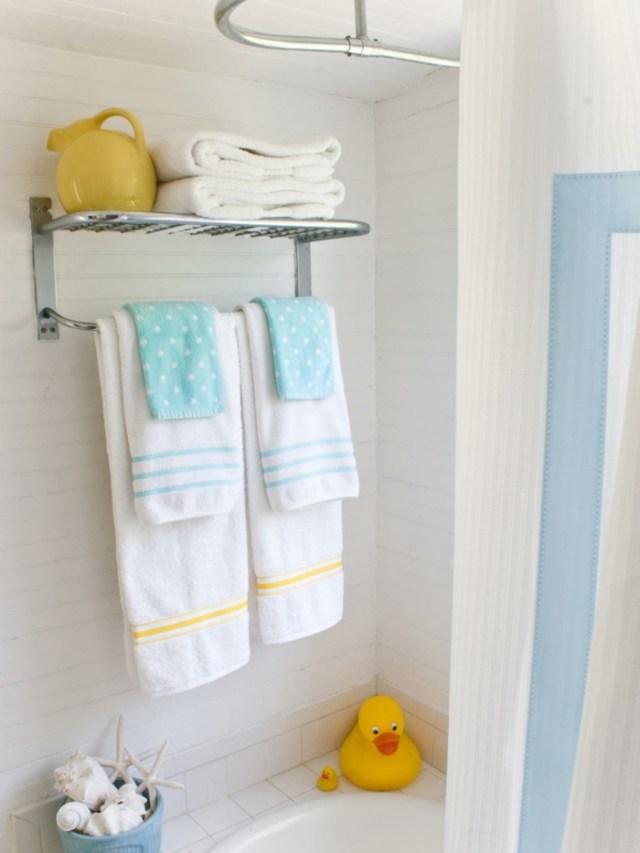 como decorar un baño pequeño y sencillo infantiles patos