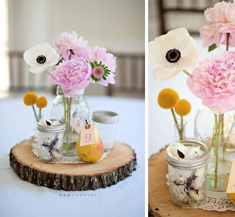 decoracion boda vintage centro mesa Kristen Weaver