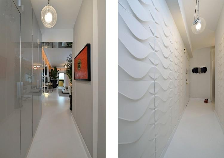 pasillos entrada diseño moderno paredes