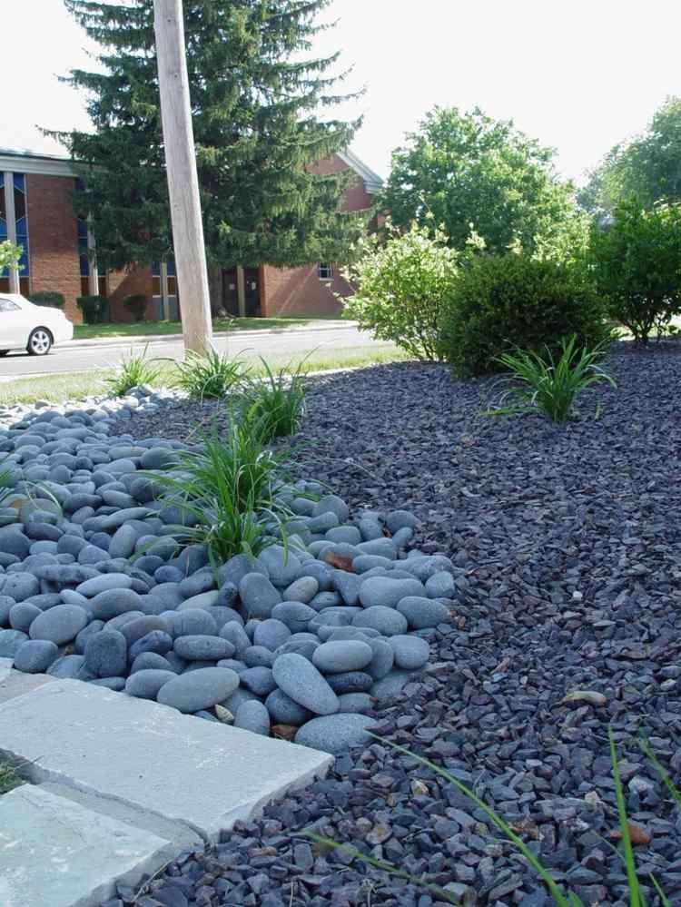 Purple Garden Pebbles