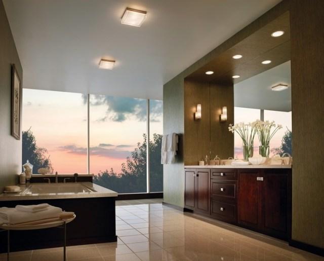bano diseno moderno iluminacion original ventanal ideas