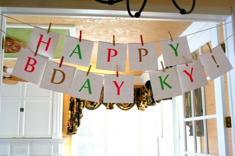 carteles letras felíz cumpleaños