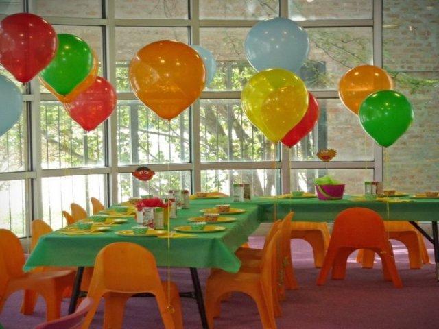 decoración fiesta infantil colores