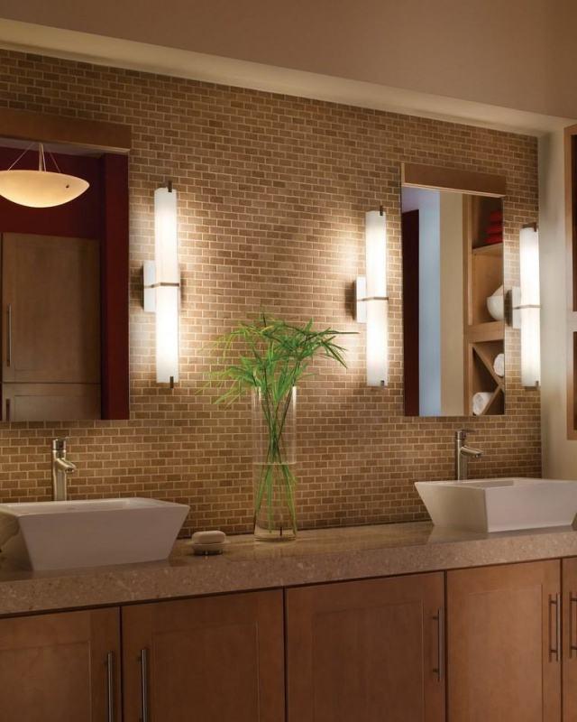 reformar bano iluminacion apliques espejos pared mosaico ideas