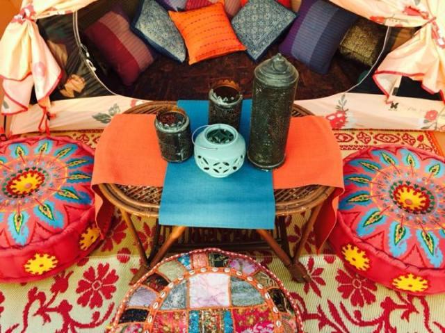 coloridas efectos terrazas muebles natural
