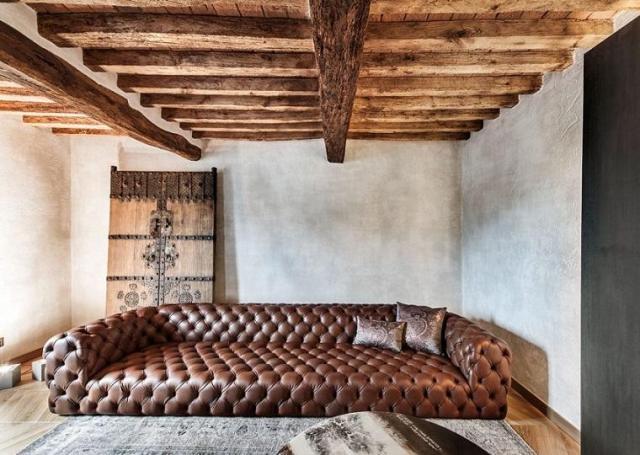 iç dekorasyon ahşap tavan özgün tasarım evi kart fikirleri