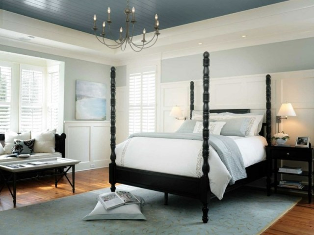 tavan dekorasyon fikirleri modern gri beyaz tasarım