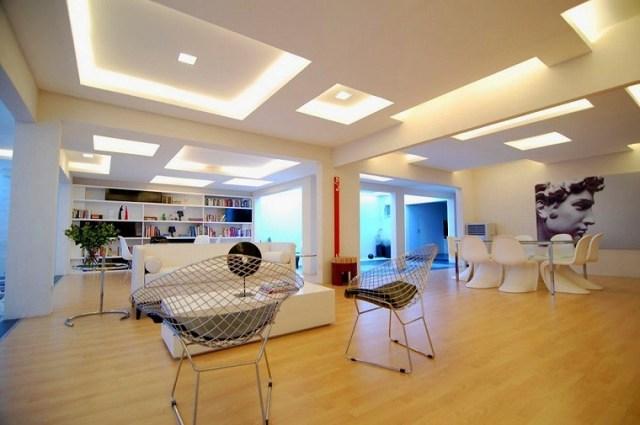 tavanı dekore etmek için fikirler parlak alanlar fikirler
