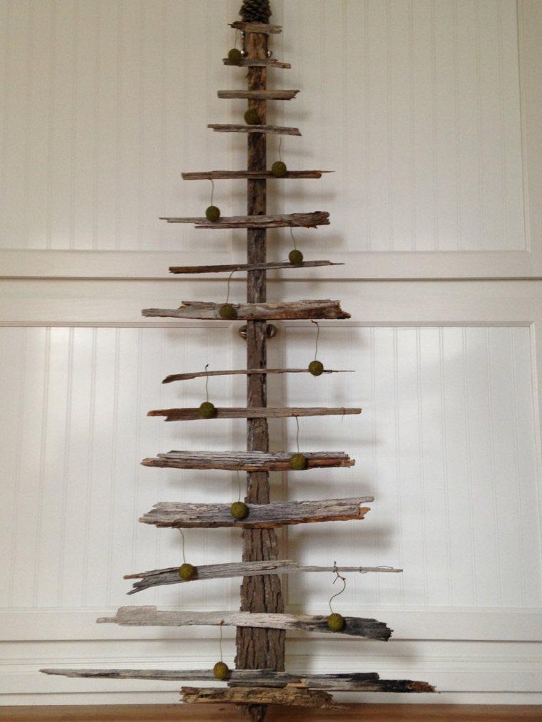 Rboles De Navidad Caseros 42 Ideas Con Madera Rstica