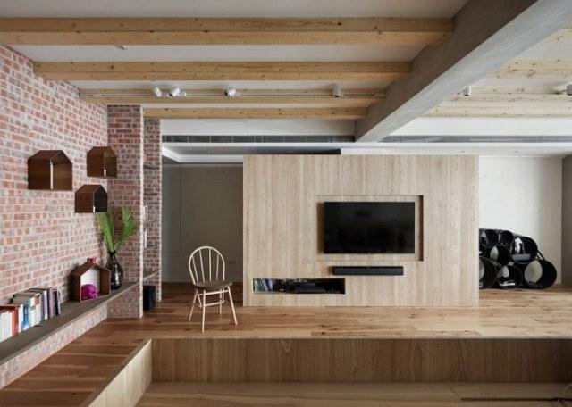 zemin tavan ahşap zarif tasarım fikirleri