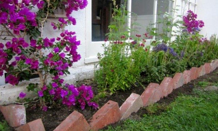 bordes para el cesped del jardin