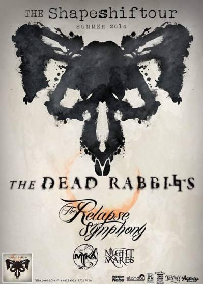the relapse symphony dead rabbit tour poster