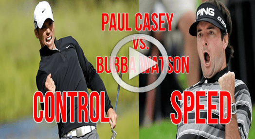 Bubba Watson and Paul Casey Golf Swing