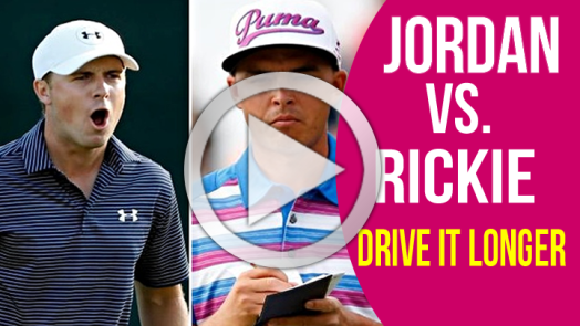 Jordan Spieth and Rickie Fowler impact position