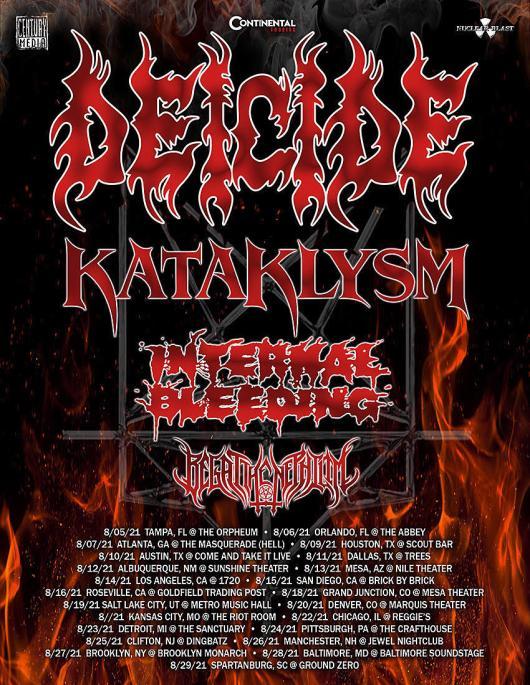 deicide kataklysm internal bleeding 2021 tour