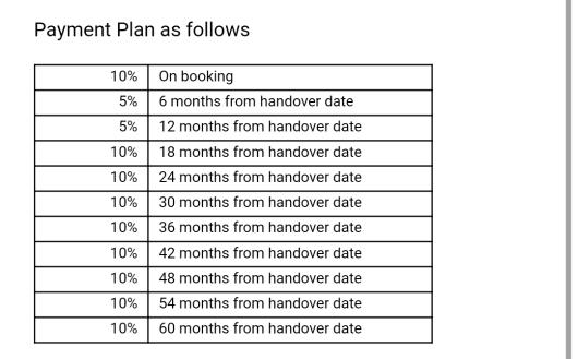 Payment Plan Warsan