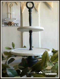 DIY-Three Tier Marble Server Chalkpaint Make-Over