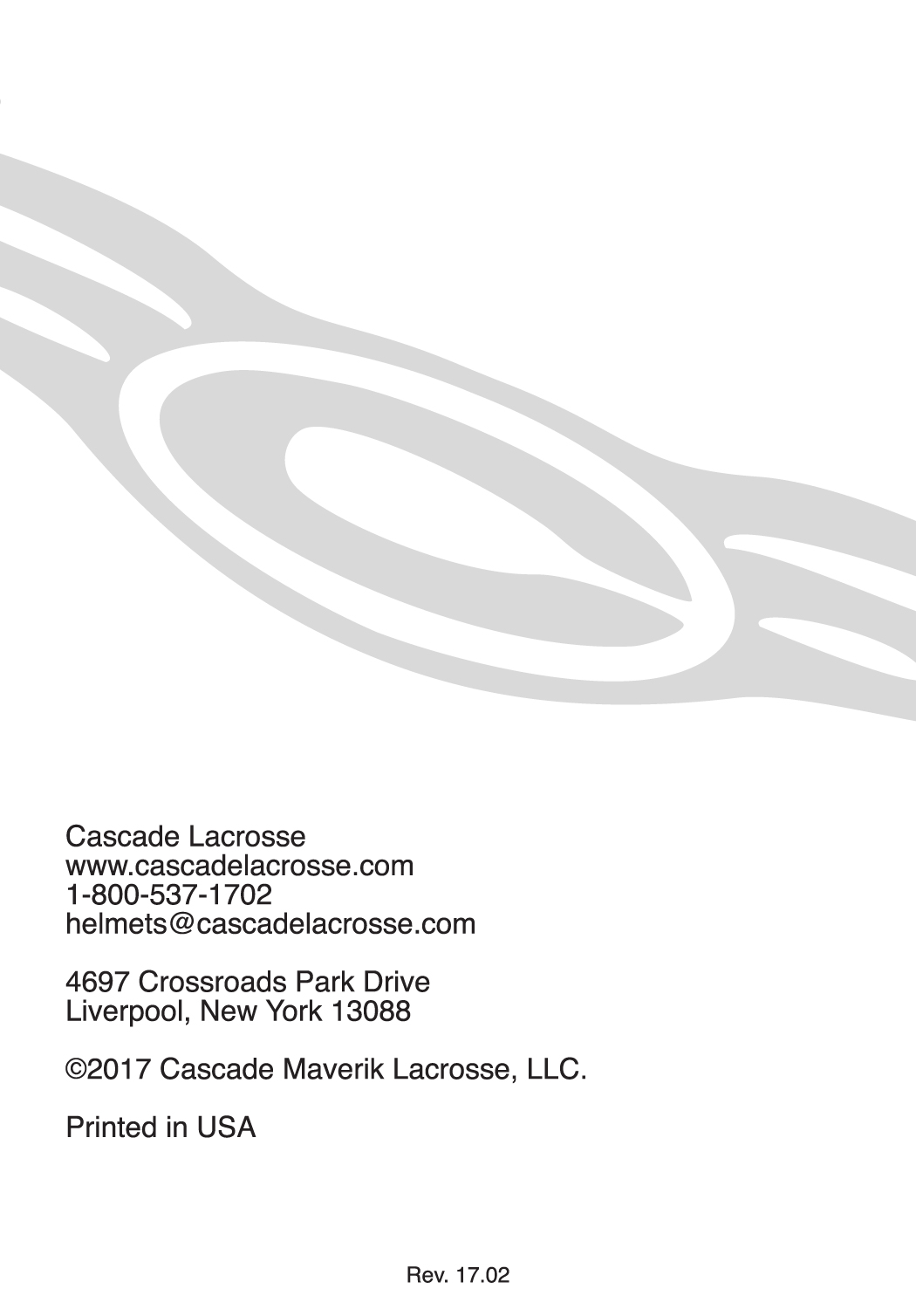 Cascade Lacrosse Helmet Safety Booklet And Information