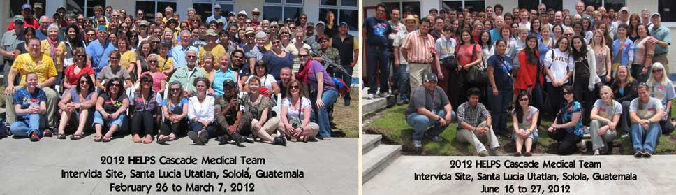 128 Volunteers for the 12th and 13th missions, February 25 to March 7 and June 16 to 27, 2012