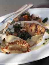 Crepes with Wild Mushroom Ragout
