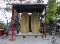 The large straw sandals are one of the big draws at Neno-gongen Temple