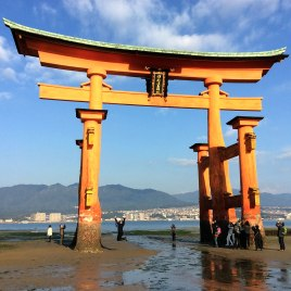 Jumping for joy at the Great Torii