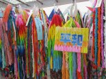 Some of the thousands of cranes donated by people all over the world