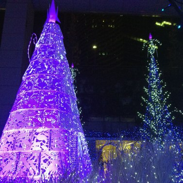 The elaborate illumination show at Caretta Shiodome