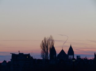Sunset in Amsterdam.