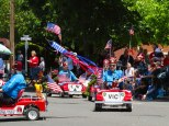 No community parade is complete without an appearance by the local Shriners Club and their miniature cars.