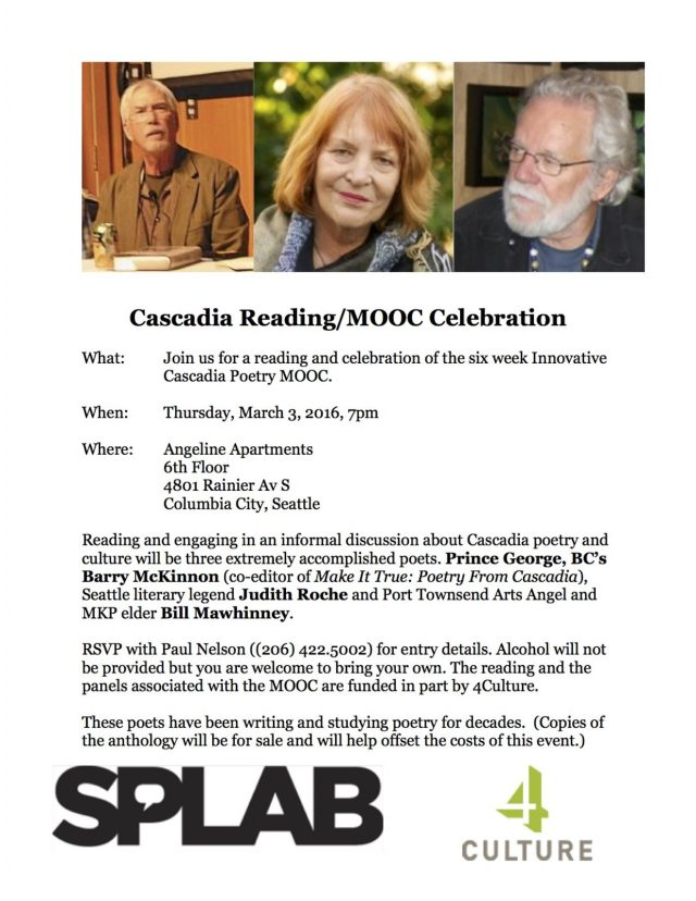 Cascadia Reading & MOOC Celebration Poster