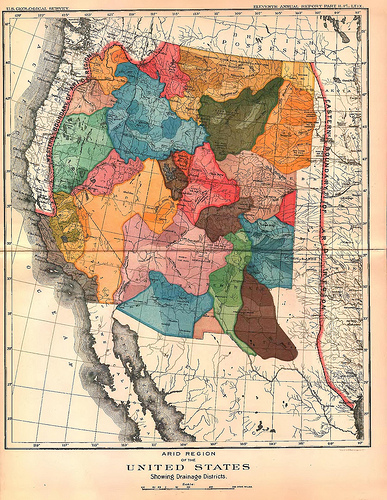 An proposed vision for the western United States, along bioregional and watershed boundaries.