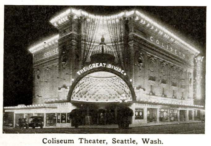 The Grand Coliesum Theater on Pike & 5th Ave. in Seattle circa 1916
