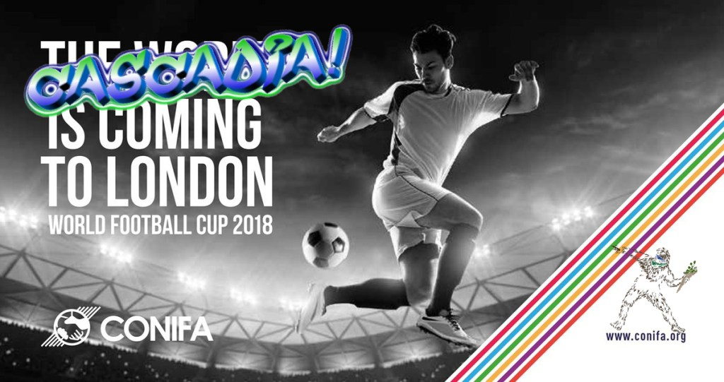 Cascadia's graffiti take-over of CONIFA's World Football Cup 2018 in London