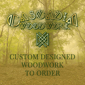 Cascadia Logo and intro to selection of custom build gifts available to order