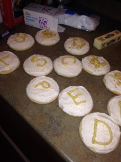 Monogrammed cookies did not work out quite like I planned.
