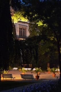 Wavel Castle Garden, noaptea, Praga