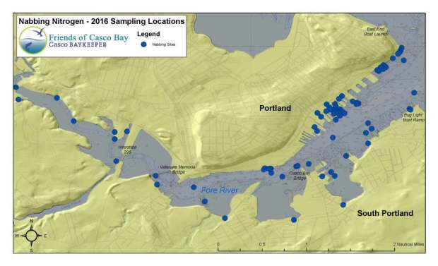 2016 Nabbing Nitrogen Sampling Locations Map