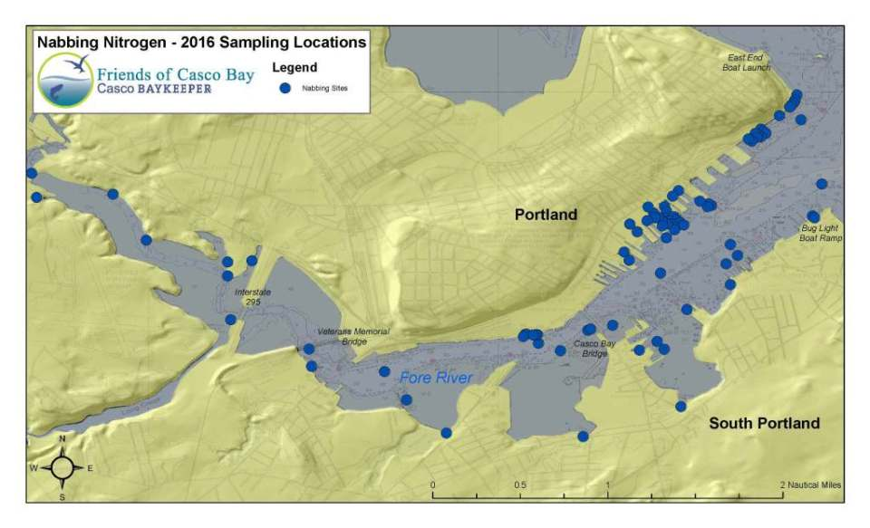 2016 Nabbing Nitrogen Sampling Locations Map