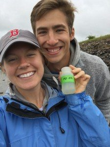 Lindsay Wold and Chaz Wilcoxen with their Nabbing Nitrogen sample