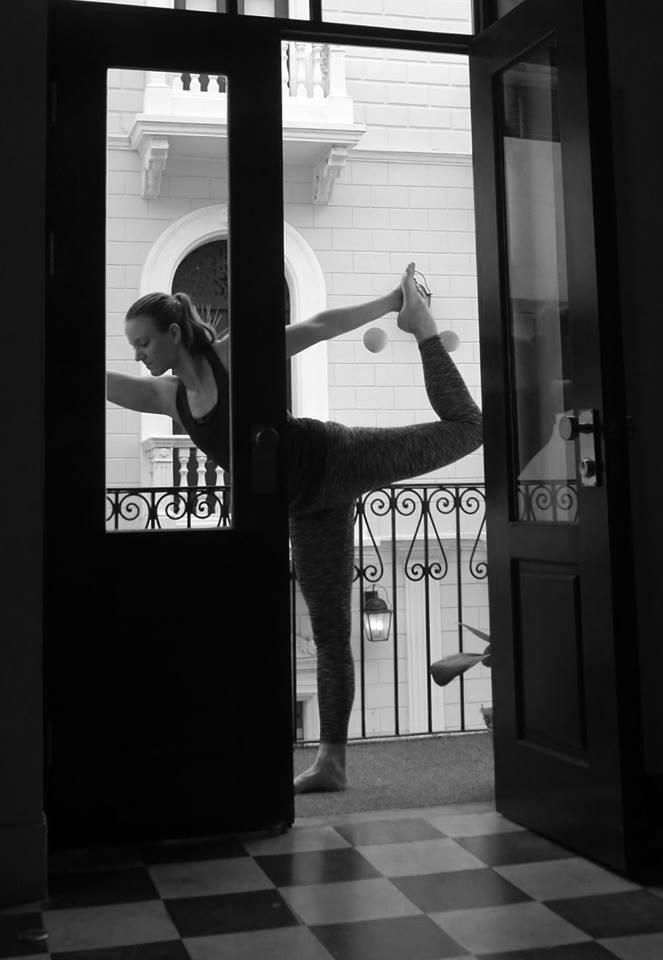 Dancers Pose at Casco Yoga Panama by Maya, co-founder and teacher, Casco Viejo, Panama