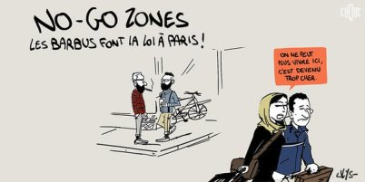 Cartoon mocking no-go zones