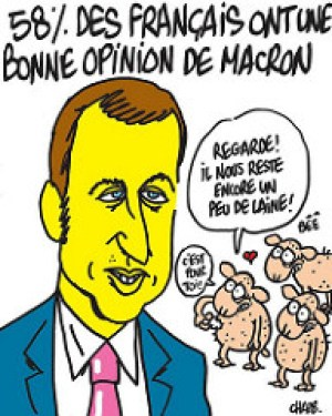 Drawing Macron by Charb