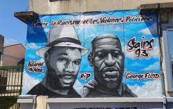 Mural of George Floyd et Adama Traoré