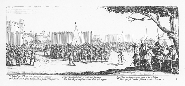 Plate 2, The Enrollment of Troops