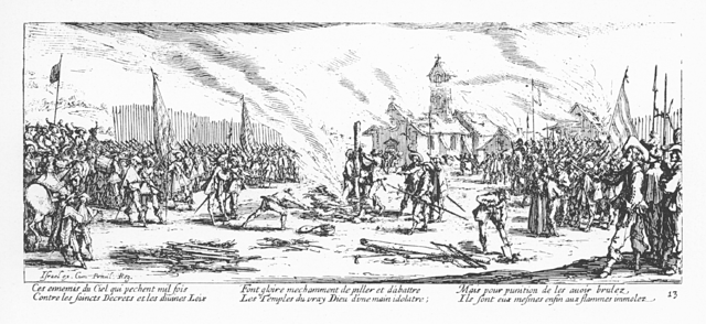 Plate 13, Burning at the Stake