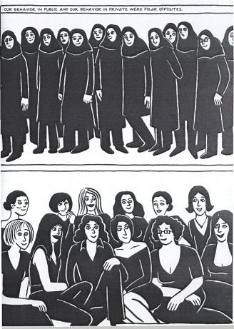 Panel from Persepolis, Book 2
