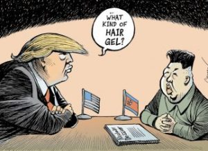 Trump with Kim Jong-un, by Chappette